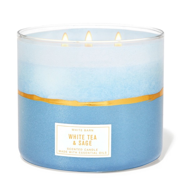 White Tea & Sage White Barn / B&BW Candle
